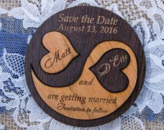 Wood Save-The-date Magnet, Personalized Wooden Wedding magnet, Engraved Rustic Save-The-date Magnet, Magnet Save-The-Date wooden card Laser Cutter Ideas, Laser Cutter Projects, Cnc Projects, Wood Wedding Invitations, Wood Invitation, Wedding Card, Wedding Ideas, Save The Date Magnets, Save The Date Cards
