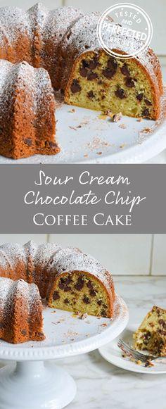 Sour Cream Chocolate Chip Coffee Cake