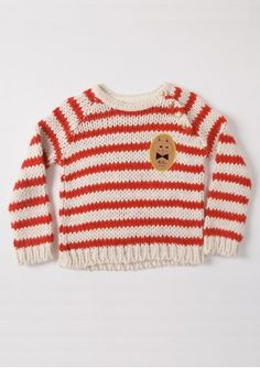 Knitted Striped Jumper Red - http://www.bobochoses.com