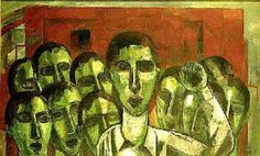 Strike(1956) - Oil on Canvas - Lasar Segall.