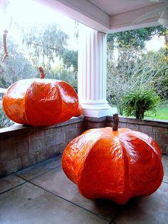 Giant Pumpkins    Papier Mache Giant Pumpkins At The Herlong Mansion