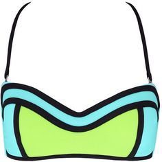 Abey bandeau top ($74) ❤ liked on Polyvore featuring swimwear, bikinis, bikini tops, strapless tankini top, halter neck bikini, halter tankini top, halter top and strapless bikini