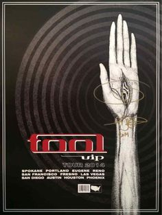 Adam Jones Tool 2014 Tour VIP Guest Package Signed Poster + Swag Authentic