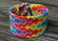Rainbow Ripple Friendship Bracelet by PerfectlyPip on Etsy, $15.00