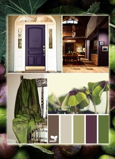 eggplant as an accent color