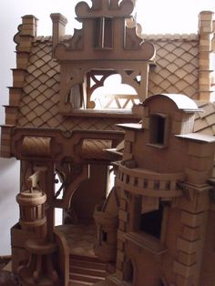 Very detailed cardboard castle display - we could apply the same idea to a…