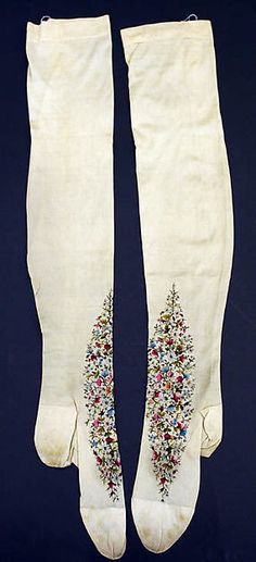 Silk Stockings, 1880, French, MET Museum Accession # 1986.300.4a, b