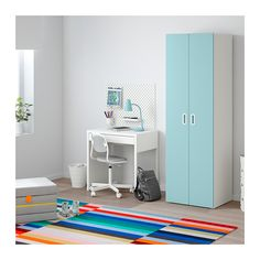 STUVA / FRITIDS Kleiderschrank IKEA Steht dank höhenverstellbarer Fußkappen auch auf unebenen Böden stabil.