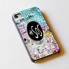 5 Seconds Of Summer Lyrics design iPhone case, iPhone 4/4S case, iPhone 5, 5S, 5c case, Samsung S3, S4 case