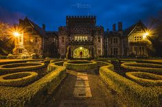 """Hatley Castle, Victoria, BC, Canada. This is """"Professor Xavier's School for Gifted Youngsters"""" in X-men, site of some Arrow scenes. In """"real life"""" it's Royal Roads University. Photo by Ian Terris Photography"""