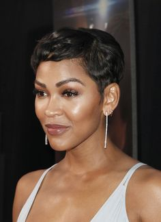More Pics of Meagan Good Pixie Face Shape Hairstyles, Cool Short Hairstyles, Pixie Hairstyles, Pixie Haircuts, Cut My Hair, Love Hair, Her Hair, Meagan Good Short Hair, Megan Good Haircut
