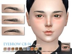 Eyebrows04 CB by S-Club WM at TSR • Sims 4 Updates