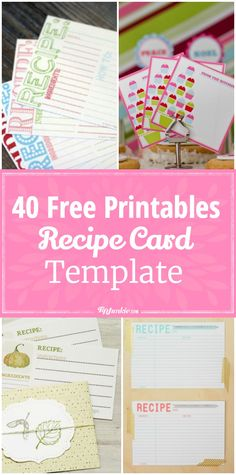 571 Best Printable Recipe Cards Images In 2019 Free Printables