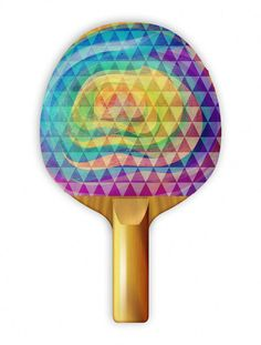 """Play ping pong with style with Uberpong's """"MISTY FOR ME"""" paddle. Get yours for $39.99 on uberpong.com #uberpongstyle"""
