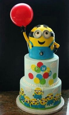 So cool, minion dave birthday cake 5th Birthday Cake, Minion Birthday, Minion Party, Sons Birthday, Fancy Cakes, Cute Cakes, Torta Minion, Minion Cakes, Pastel Minion