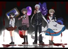 Cross-Over/#1630802 - Zerochan - Ib, Yume Nikki, Ao Oni, Majo No Ie (The Witch's House)