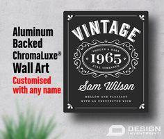 50th Birthday 50th Birthday Gift High Quality by DesignInventPrint
