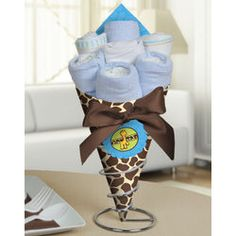 Giraffe Baby Shower Diaper Bouquet for Boy #babyshowergift