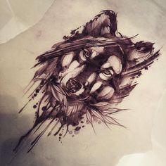 """Résultat de recherche d'images pour """"sketch tattoo wolf"""""""
