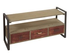 Mueble para TV madera y metal industrial