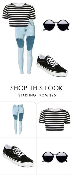 """""""Margarida"""" by liviamf ❤ liked on Polyvore featuring Topshop and Vans"""