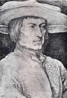 Albrecht Dürer - Portrait of Lucas van Leyden (1521)