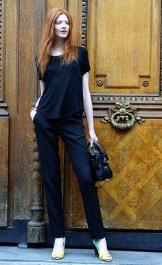 Anastasia Ivanova after Jean Paul Gaultier Haute Couture, Rue St Martin