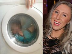 Mum photographs son with Down syndrome in washing machine