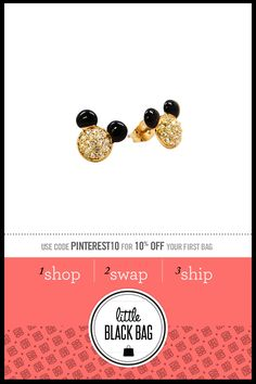 Disney Couture Mickey Mouse Studs, just the right amount of tacky Disney Stuff, Disney Trips, Disney Love, Disney Magic, Mickey And Minnie Love, Disney Mickey, Walt Disney, Disney Couture Jewelry, Disney Jewelry