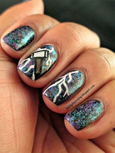 Stunning Thor Nail Art Designs, Ideas, Trends & Stickers 2014   Thor Nails