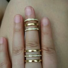Gold Pave Triple Stack MK Ring Brand new / never used! Beautiful statement piece! 100 % authentic Michael Kors Jewelry Rings