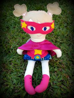 Super Hero Doll with Cape and Mask