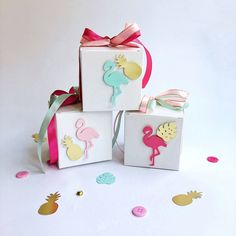 Excited to share the latest addition to my #etsy shop: Flamingo Favor Boxes Flamingo Pineapple Birthday Party Decorations Tropical Flamingo Baby Shower Lets Flamingle Gift Favor Boxes Set of 12