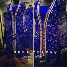 The traditional bandhani with a modern touch! Made from a saree
