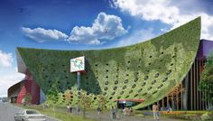 Arkhenspaces' Taichung Cultural Center Design Features a Wind Power-Generating Green Wall Wind Power, Solar Power, Solar Energy, Survival Shelter, Water Storage, Homestead Survival, Cultural Center, Alternative Energy, Emergency Preparedness