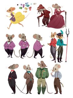 Mice Mouse Mice's by Alexander Wilson, via Behance