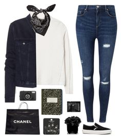 """Black and white"" by genesis129 ❤ liked on Polyvore featuring Rebecca Taylor, Miss Selfridge, Vans, Acne Studios, Alexander McQueen, Chanel, Lomography, Sephora Collection, Topshop and Hervé Gambs"