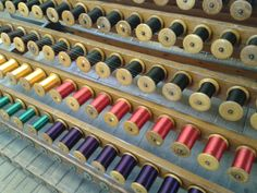 silk ready to wind into a warp.  Whitchurch silk mill, Hampshire.