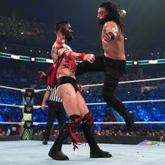 "Roman Reigns vs. ""The Demon"" Finn Bálor -- Universal Championship Extreme Rules Match: photos Finn Balor, Wwe Pay Per View, Wwe Roman Reigns, Superstar, Champion, Tv Shows, Style, Fashion, Roman Empire"