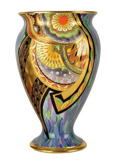 carlton+ware+vase+pattern+3452 | striking Carlton Ware 'Scimitar' Art Deco baluster vase,…