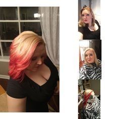 Here's my latest hair experiment :) It looks like my hair's on fire lol