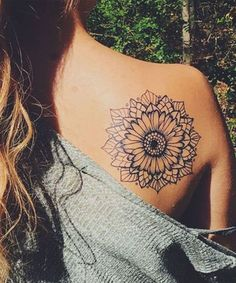 Most Impressive Mandala Sunflower Tattoos for Girls to Try This Year