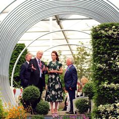 The jewel in the crown of a fabulous #RHSChelsea Press Day - the chance to show some of the Royal family our 'Spring' by Hillier garden.  And now today, we nervously await the judges' decision ...