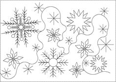 For Frozen inspired quilt Shop | Category: Christmas / Winter | Product: Snowflake E2E