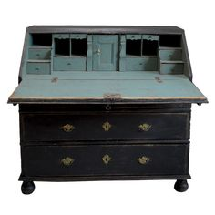 Love this antique roll top desk