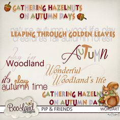 #Pip and Friends Word Art Pack by #Booland Designs #theStudio #digiscrap