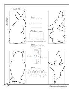 paper chain template- bunny, bird
