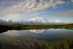 Denali reflection in Wonder Lake - Denali National Park, AK  _MG_4070 by DenaliNPS, via Flickr