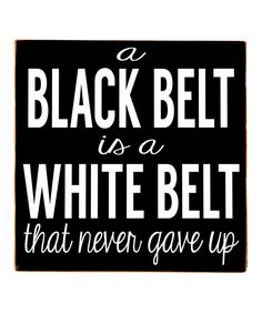 Love this Black & White 'Black Belt' Wall Art by Vinyl Crafts on #zulily! #zulilyfinds