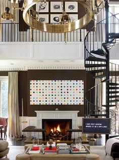 what is that brilliance around the fireplace?! i'm so making a bench this weekend.  from madrid-based designer, luis bustamante